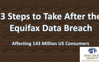 3 Steps to Take After the Equifax Data Breach – Affecting 143 Million US Consumers